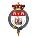 Coat of Arms of James Harold Wilson, Baron Wilson of Rievaulx, KG, OBE, PC, FRS, FSS.png