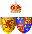 Coat of arms of Margaret Tudor as Queen consort of Scots.png