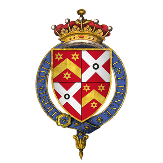 Henry Danvers, 1st Earl of Danby - Arms of Sir Henry D'Anvers, 1st Earl of Danby, KG