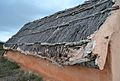 Coberta de la cabana neolítica reconstruïda del museu de la Valltorta.JPG