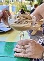 Coffee sorbet at Riverbar & Kitchen, Brisbane, Queensland.jpg