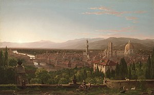 View of Florence from San Miniato - Image: Cole Thomas View of Florence from San Miniato 1837