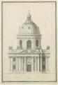 Collège des Quatre Nations - Church facade elevation BN Est Va261 RdC910 - Gallica.png