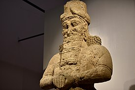 Colossal statue of the god Nabu, 8th century BCE, from Nimrud, Iraq Museum.jpg