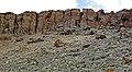 Columnar-jointed orendite lamproite lava (Pleistocene, 1.30-1.37 Ma; Black Rock volcanic center, Leucite Hills, Wyoming, USA) 16 (48972628662).jpg