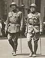 Commander Rose and Adjt. Major Vander Donckt, of the Belgian Army, in the Belgian soldiers' parade, New York City, May 1918 (cropped).jpg
