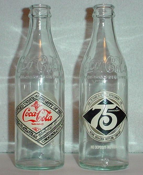 Commemorative Coca Cola bottles