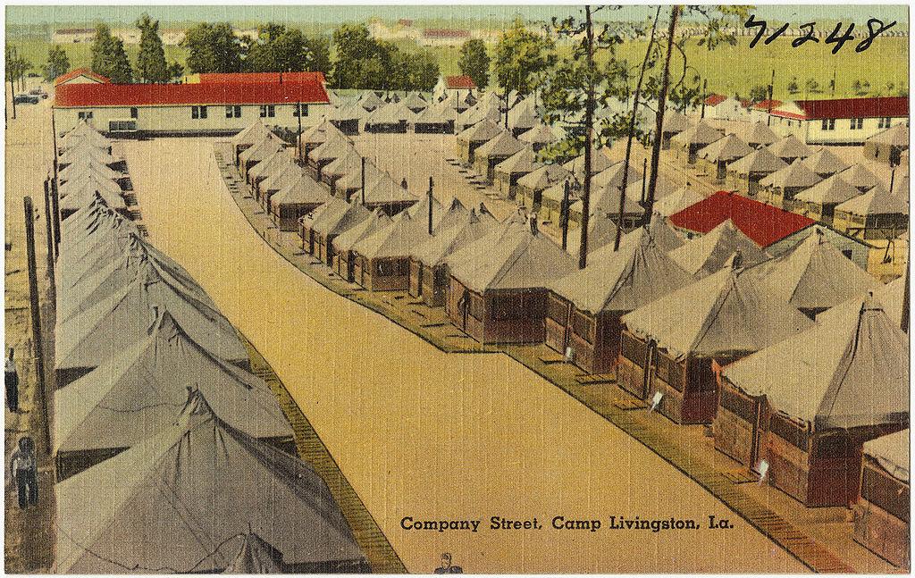 Px Company Street C Camp Livingston C La