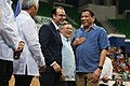 Complex in Brunei Darussalam 02.jpg President Rodrigo Duterte shares a light moment with members of his delegation at the Hassanal Bolkiah National Sports Complex in Brunei Darussalam.jpg
