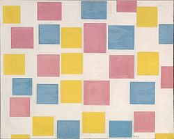 Piet Mondrian : Composition with colour fields