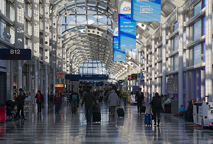 Inside O'Hare International Airport