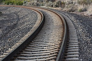Higher-speed rail - Concrete ties on a BNSF line