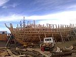 Construcción de la réplica del HMS Beagle 144 - State of the art 2013 03 21 starboard view.jpg
