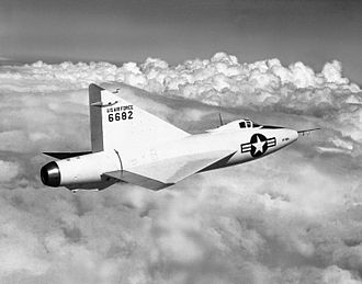 Convair XF-92 - A photo of the Convair XF-92A in flight
