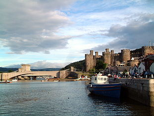 Conwy Castle and the bridges