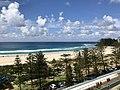 Coolangatta beach, Queensland seen from holiday appartament towers facing the beach 01.jpg