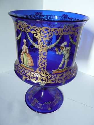 Venetian glass - Decorated cup from Murano