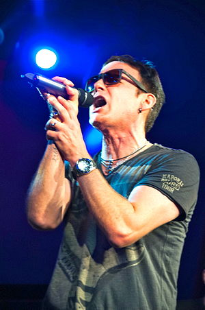 "Corey Hart (singer) - Hart performing ""Sunglasses at Night"" in Toronto, September 28, 2012"