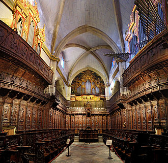 Badajoz Cathedral - View of the choir.
