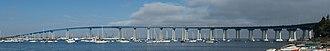San Diego–Coronado Bridge - Image: Coronadobaybridgetho rton