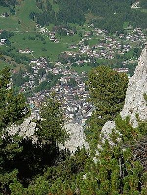 Mount Faloria - View of Cortina from Mount Faloria