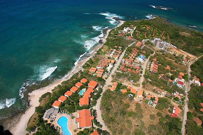 File:Costa Rica Playa Langosta and Isla Capitan 2007 Aerial Photograph Tamarindowiki 02.JPG