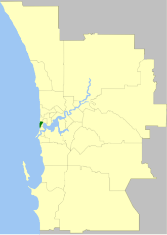 Town of Cottesloe - Location of Cottesloe, Western Australia