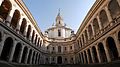 Courtyard of Sant'Ivo alla Sapienza Church, Piazza Navona, Rome, Italy.jpg