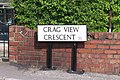 Crag View Crescent sign - New Style, Oughtibridge - geograph.org.uk - 1290208.jpg