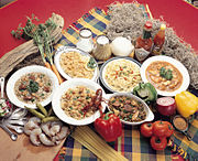 Dishes typical of Louisiana Creole cuisine.