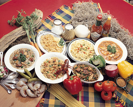 Dishes typical of Louisiana Creole cuisine. CreoleFood.jpg