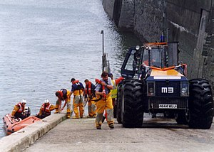 Porthcawl Lifeboat Station - Image: Crewtractor small