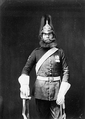 5th Dragoon Guards - Rough Rider Michael MacNamara of the 5th Dragoon Guards after serving in the Crimean War in 1856