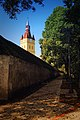 Cristian - latura de vest a zidului fortificat; parte a fortificațiilor bisericii evanghelice.jpg
