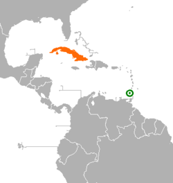 Cubagrenada relations wikipedia map indicating locations of cuba and grenada gumiabroncs Gallery