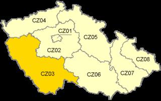 Jihozápad NUTS2 Region in Czech Republic