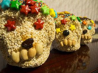 Amaranth - Skull shapes made of amaranth and honey for Day of the Dead in Mexico
