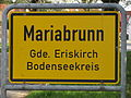 D-BW-Eriskirch-Mariabrunn - Ortsschild 032.JPG