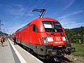 DB 182 023-2 frisch geputzt mit S-Bahn S1 im Bahnhof Bad Schandau.jpg