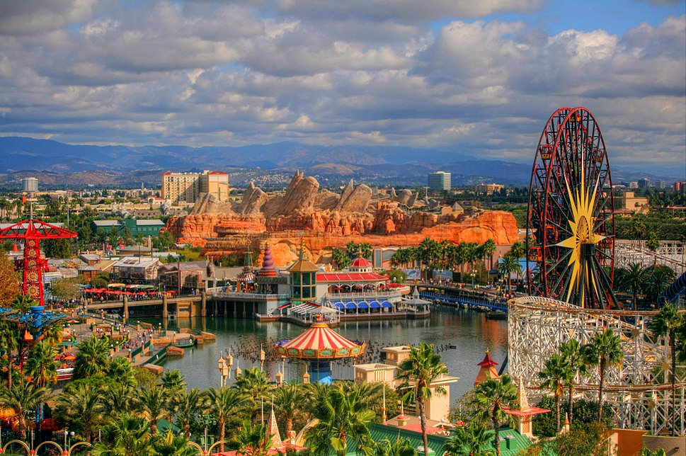 DCA from Paradise Pier Hotel 2012