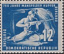 DDR-Briefmarke 750 J. Mansfeld Bergbau 1950 12 Pf.JPG