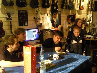 DDT (band) - DDT during the autograph-session in Moscow, 2011