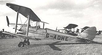 De Havilland DH.60 Moth - DH.60G-III Moth Major G-ADHE at Coventry in June 1954
