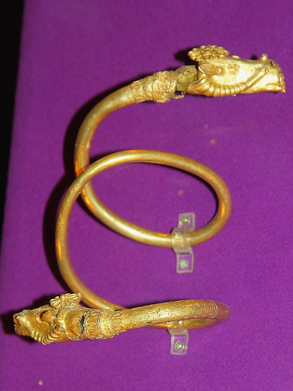 Dacian Gold Bracelet at the National Museum of Romanian History 2011 - 2
