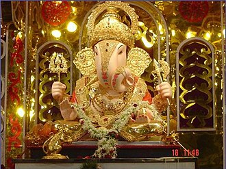 Cult image - A clay Ganesha murti, worshipped during Ganesh Chaturthi festival