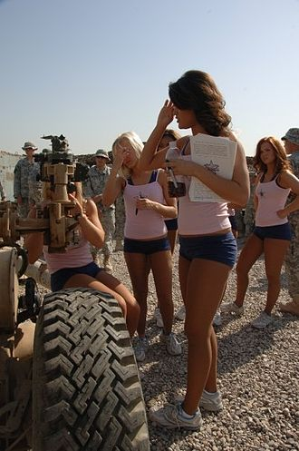 Dallas Cowboys Cheerleaders - Dallas Cowboy Cheerleaders entertain troops in Iraq.