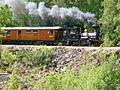 Dampende gjennom skogen. Setesdalsbanen. Foto T. Lunde (8632976573).jpg