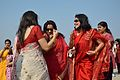 Dancing Devotees - Durga Idol Immersion Ceremony - Baja Kadamtala Ghat - Kolkata 2012-10-24 1354.JPG