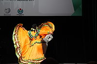Dancing at the Wikimania 2015 Opening Ceremony IMG 7637.JPG