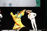 Dancing at the Wikimania 2015 Opening Ceremony IMG 7640.JPG